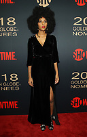 6 January 2018 - Los Angeles, California - Jessica Williams. Showtime Golden Globe Nominee Celebration held at the Sunset Tower Hotel in Los Angeles. Photo Credit: AdMedia