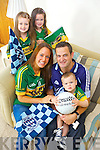 LET THE RIVALRY BEGIN: Siobhan O'Connor and husband Mark Cushen, pictured with their three children Jocelyn (5), Isabelle (4) and Ethan 21 months.LET THE RIVALRY BEGIN: Kerry woman Siobhan O'Connor and husband Mark Cushen originally from Dublin, pictured with their three children Jocelyn (5), Isabelle (4) and Ethan 21 months are going head to head this week as they prepare for the All-Ireland Quarter Final this Sunday.