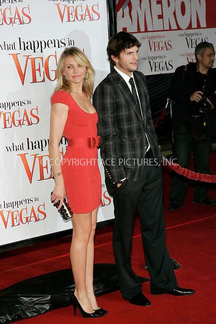 WWW.ACEPIXS.COM . . . . .....May 1, 2008. Los Angeles, CA.....Actors Cameron Diaz and Ashton Kutcher attend the 'What Happens in Vegas' premiere at the Mann Village Theatre...  ....Please byline: Joe West - ACEPIXS.COM..... *** ***..Ace Pictures, Inc:  ..Philip Vaughan (646) 769 0430..e-mail: info@acepixs.com..web: http://www.acepixs.com