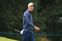 Ross Fisher (ENG) on the 12th green during Round 1of the Sky Sports British Masters at Walton Heath Golf Club in Tadworth, Surrey, England on Thursday 11th Oct 2018.<br /> Picture:  Thos Caffrey | Golffile<br /> <br /> All photo usage must carry mandatory copyright credit (© Golffile | Thos Caffrey)