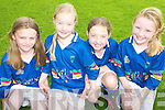 HURLING: Some of the hurling stars of the future enjoying the GAA VHI Cu?l Camp at Kilmoyley GAA Grounds on Thursday last were, l-r: Triona Curran, Aoife King, Elizabeth Meehan and Erin Stack.   Copyright Kerry's Eye 2008