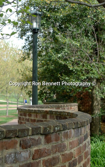 University Virginia curved fence  with light stand Charlottesville Commonwealth of Virginia, Fine Art Photography by Ron Bennett, Fine Art, Fine Art photography, Art Photography, Copyright RonBennettPhotography.com ©