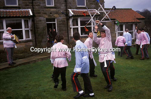 Goathland Plough Stots, Goathland North Yorkshire England Sword dance performance.