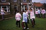 Goathland Plough Stots, Goathland North Yorkshire England Sword dance performance. 1980s UK