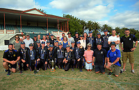The CBHS team and supporters. 2017 the Secondary School Boys' First XI Cup national cricket finals presentations at Fitzherbert Park in Palmerston North, New Zealand on Friday, 8 December 2017. Photo: Dave Lintott / lintottphoto.co.nz