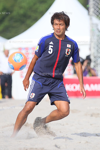 Teruki Tabata (JPN), SEPTEMBER 7, 2013 - Beach Soccer : International friendly match between Japan 7-2 Switzerland in Odaiba, Tokyo, Japan. (Photo by AFLO SPORT)