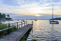 France, Gironde, Cote d'Argent, Lacanau, Lacanau Lake, Longarisse Bay // France, Gironde (33), Côte d'Argent, Lacanau, lac de Lacanau, baie de Longarisse