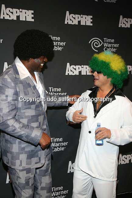 "Earvin ""Magic"" Johnson and Time Warner's Jeff Hirsch Attend ASPiRE presents the Super 70s Soul Party Hosted Earvin ""Magic"" Johnson  at Time Warner Cable Studio Highline Stages, NY"