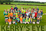 Enjoying the hurling CúI camp in Crotta O'Neills on Monday.
