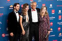 Marc Clotet, Aina Clotet and doctor Clotet attends to the photocall of the Gala Sida at Palacio de Cibeles in Madrid. November 21, 2016. (ALTERPHOTOS/Borja B.Hojas) //NORTEPHOTO.COM
