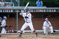 Daniel Millwee (7) of the High Point-Thomasville HiToms at bat against the Asheboro Copperheads at Finch Field on June 12, 2015 in Thomasville, North Carolina.  The HiToms defeated the Copperheads 12-3. (Brian Westerholt/Four Seam Images)