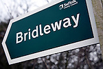 Bridleway sign Suffolk County Council