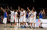 France's team during the 2014 FIBA World basketball championships quarters of final match Spain vs France at the Palacio de los Deportes in Madrid on September 10, 2014.  PHOTOCALL3000 / DP