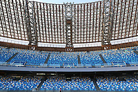 Empty stands of the stadium prior to the Serie A football match between SSC  Napoli and SPAL at stadio San Paolo in Naples ( Italy ), June 28th, 2020. Play resumes behind closed doors following the outbreak of the coronavirus disease. <br /> Photo Cesare Purini / Insidefoto
