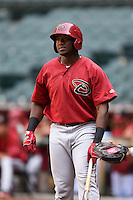 Arizona Diamondbacks outfielder Justin Williams (19) during an Instructional League game against the Oakland Athletics on October 10, 2014 at Chase Field in Phoenix, Arizona.  (Mike Janes/Four Seam Images)