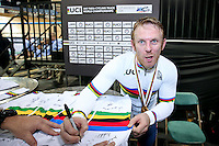 Picture by Alex Whitehead/SWpix.com - 03/03/2017 - Cycling - UCI Para-cycling Track World Championships - Velo Sports Center, Los Angeles, USA - Men's C4 1km Time Trial. Gold - Great Britain's Jody Cundy.