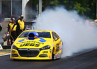 May 18, 2014; Commerce, GA, USA; NHRA pro stock driver Jeg Coughlin Jr during the Southern Nationals at Atlanta Dragway. Mandatory Credit: Mark J. Rebilas-USA TODAY Sports