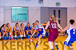 Team Garvey's  Tara Guerin in Action in the Team Garvey's v NUIG Mystics Women's Div one Basketball at Mercy Mounthawk Gym on Saturday