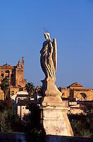 Spanien, Andalusien,  Mezquita in Cordoba, im 16.17. Jh. wurde die Kathedrale in die Moschee La Mezquita aus dem 8. Jh. gebaut, Unesco-Weltkulturerbe, davor die Puente Romana