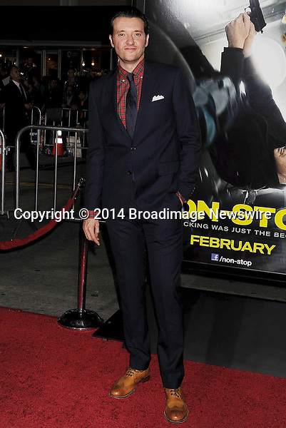 Pictured: Jason Butler Harner<br /> Mandatory Credit &copy; Joseph Gotfriedy/Broadimage<br /> &quot;Non-Stop&quot; - Los Angeles Premiere<br /> <br /> 2/24/14, Westwood, California, United States of America<br /> <br /> Broadimage Newswire<br /> Los Angeles 1+  (310) 301-1027<br /> New York      1+  (646) 827-9134<br /> sales@broadimage.com<br /> http://www.broadimage.com