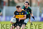 Micheal Burns  Dr Crokes in action against Kevin Fulignati Nemo Rangers in the Munster Senior Club Championship Final at Páirc Ui Rinn, Cork on Sunday.