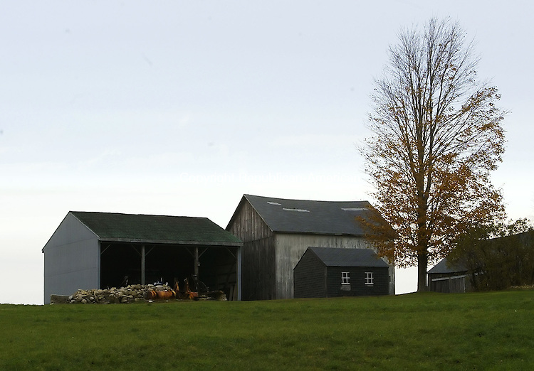 NORTHFIELD, CT, 11/17/07- 111707BZ02-  Barns located at 34 Goodwin Hill Rd. in Northfield. <br /> Jamison C. Bazinet Republican-American