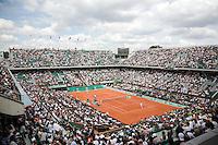 25-5-08, France,Paris, Tennis, Roland Garros, overall view centercourt
