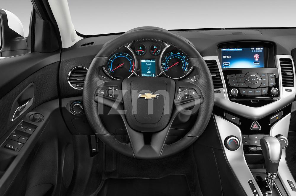 Car pictures of steering wheel view of a 2015 Chevrolet Cruze 4-Door Sedan 2LT Automatic 4 Door  Steering Wheel