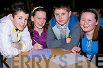 NATIONAL: Bruaeenshere National School was well represented in the Clanmaurice Credit Union Stage 1 Table Quiz at Causeway Comprehensive School on Sunday. L-r: Lee O'Sullivan, Mary Kate McGuire, Shane Nolan and  Emily Kane................