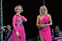 LONDON, ENGLAND - JULY 10: Claire Richards and Faye Tozer of 'Steps' performing at Kew the Music, Kew Gardens on July 10, 2018 in London, England.<br /> CAP/MAR<br /> &copy;MAR/Capital Pictures