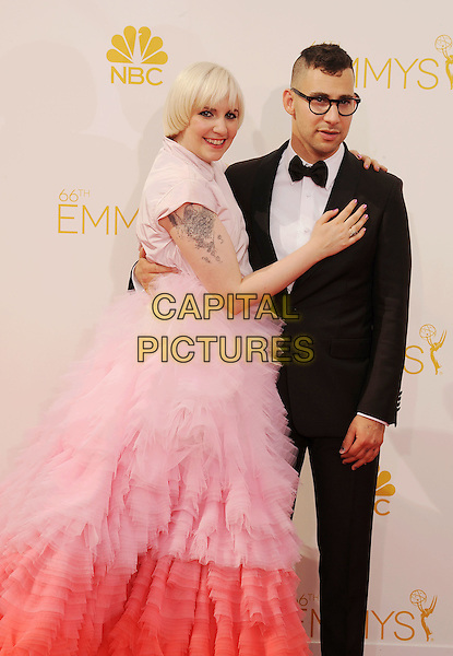LOS ANGELES, CA- AUGUST 25: Actress Lena Dunham (L) and Jack Antonoff arrive at the 66th Annual Primetime Emmy Awards at Nokia Theatre L.A. Live on August 25, 2014 in Los Angeles, California.<br /> CAP/ROT/TM<br /> &copy;Tony Michaels/Roth Stock/Capital Pictures