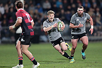 Damien McKenzie in action during the Game of Three Halves between the NZ All Blacks and Canterbury at AMI Stadium in Christchurch, New Zealand on Friday, 10 August 2018. Photo: Martin Hunter / lintottphoto.co.nzz