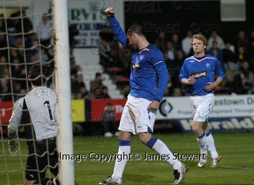 26/09/2007       Copyright Pic: James Stewart.File Name : sct_jspa09_east_fife_v_rangers.KRIS BOYD  CELEBRATES AFTER HE SCORES RANGERS FOURTH FROM THE PENALTY SPOT.James Stewart Photo Agency 19 Carronlea Drive, Falkirk. FK2 8DN      Vat Reg No. 607 6932 25.Office     : +44 (0)1324 570906     .Mobile   : +44 (0)7721 416997.Fax         : +44 (0)1324 570906.E-mail  :  jim@jspa.co.uk.If you require further information then contact Jim Stewart on any of the numbers above........