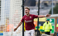 5th January 2020; Pirelli Stadium, Burton Upon Trent, Staffordshire, England; English FA Cup Football, Burton Albion versus Northampton Town; Sam Hoskins of Northampton Town runs with his arms wide behind the goal after scoring in the 70th minute 1-4  - Strictly Editorial Use Only. No use with unauthorized audio, video, data, fixture lists, club/league logos or 'live' services. Online in-match use limited to 120 images, no video emulation. No use in betting, games or single club/league/player publications