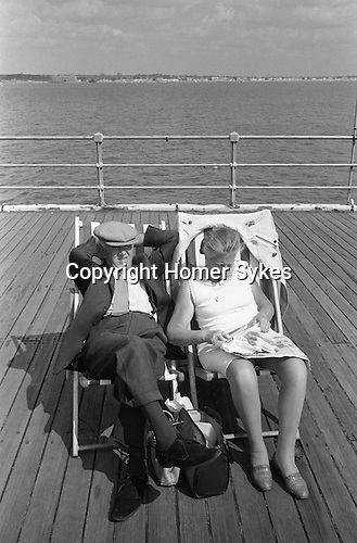 Senior couple Southend on Sea,  Essex. England 1974.