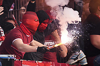 2020, Germany: Ultra fans at German Bundesliga games wearing masks of varying design before any Covid-19 announcement was made.