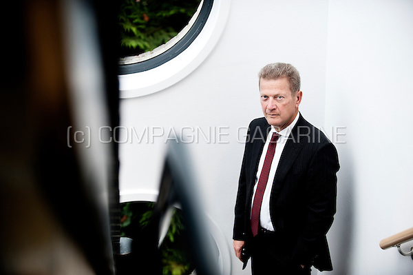 Louis-Marie Piron, CEO of the Thomas & Piron construction group (Belgium, 28/10/2014)