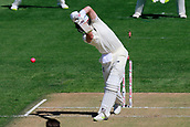 22nd March 2018, Eden Park, Auckland, New Zealand; International Test Cricket, New Zealand versus England, day 1;  Joe Root is bowled by Trent Boult