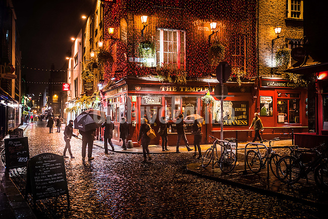 Dublin; Ireland, Jan 2013. Temple bar pub, founded in 1880. A visit to iconic and historic pub in Dublin, Ireland