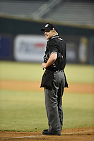 ***Temporary Unedited Reference File***Umpire Matt Winter during a game between the Mobile BayBears and Jacksonville Suns on April 18, 2016 at The Baseball Grounds in Jacksonville, Florida.  Mobile defeated Jacksonville 11-6.  (Mike Janes/Four Seam Images)