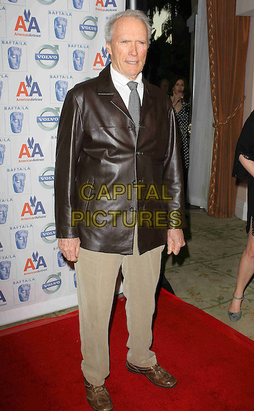 CLINT EASTWOOD .BAFTA/LA's 15th Annual Awards Season Tea Party held at The Beverly Hills Hotel, Beverly Hills, California, USA..January 10th, 2009.full length black brown leather jacket trousers bafta la .CAP/ADM/TC.©T. Conrad/AdMedia/Capital Pictures.