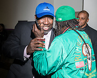 LAS VEGAS, NV - December 2: Jimmy Jay and Flavor Flav  at the 2017 Las Vegas Soul Festival at The Orleans Arena & Casino in Las Vegas, Nevada on December 2, 2017. Credit: Damairs Carter/MediaPunch