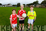 Chloe Passway, Zac Howarch and Cathal McSherry enjoying the CúI camp in St Pats Blennerville on Monday
