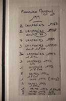 Europe/France/Aquitaine/33/Gironde/Saint-Estèphe: château Meynet (AOC Saint-Estèphe) - Inventaire du placard d'Evelyne la cuisinière contenant ses conserves de lamproie et de cèpes