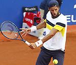 Feliciano Lopez jugando contra Murray en la Pista Rafa Nadal del barcelona Open Banc Sabadell. ATP 500