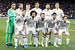 Real Madrid's team photo with Keylor Navas, Sergio Ramos, Toni Kroos, Raphael Varane, Karim Benzema, Cristiano Ronaldo, James Rodriguez, Marcelo Vieira, Dani Carvajal, Carlos Henrique Casemiro and Luka Modric during Champions League 2016/2017 Round of 16 1st leg match. February 15,2017. (ALTERPHOTOS/Acero)