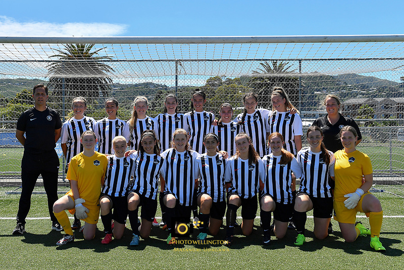 U16 Girls Northern Team, National Age Group Tournament at Petone Memorial Park, Lower Hutt, New Zealand on Wednesday 12 December 2018. <br /> Photo by Masanori Udagawa. <br /> www.photowellington.photoshelter.com