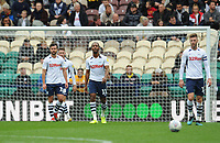 Preston North End's Daniel Johnson (centre) looks dejected after Barnsley's Cameron McGeehan (not in picture) scores his side's first goal  <br /> <br /> Photographer Kevin Barnes/CameraSport<br /> <br /> The EFL Sky Bet Championship - Preston North End v Barnsley - Saturday 5th October 2019 - Deepdale Stadium - Preston<br /> <br /> World Copyright © 2019 CameraSport. All rights reserved. 43 Linden Ave. Countesthorpe. Leicester. England. LE8 5PG - Tel: +44 (0) 116 277 4147 - admin@camerasport.com - www.camerasport.com