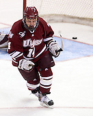 T.J. Syner (UMass - 14) - The Boston College Eagles defeated the University of Massachusetts-Amherst Minutemen 6-5 on Friday, March 12, 2010, in the opening game of their Hockey East Quarterfinal matchup at Conte Forum in Chestnut Hill, Massachusetts.