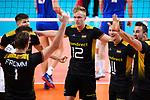 13.09.2019, Paleis 12, BrŸssel / Bruessel<br />Volleyball, Europameisterschaft, Deutschland (GER) vs. Serbien (SRB)<br /><br />Jubel Christian Fromm (#1 GER), Julian Zenger (#10 GER), Ruben Schott (#3 GER), Anton Brehme (#12 GER), Lukas Kampa (#11 GER), Georg Grozer (#9 GER)<br /><br />  Foto © nordphoto / Kurth
